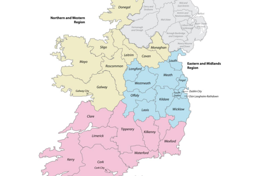 Regional Map Of Ireland.Regional Spatial And Economic Strategies Public Consultation The